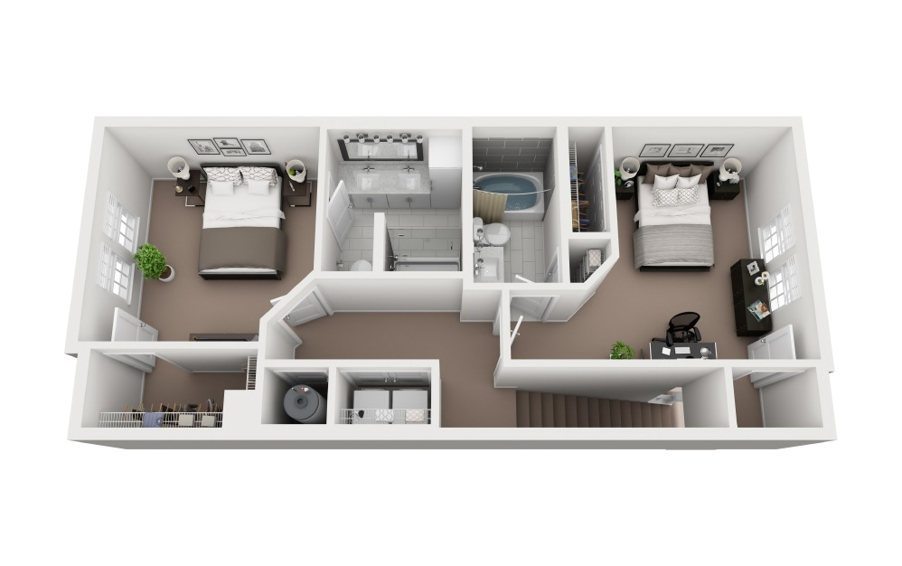 Casey - 3 bedroom floorplan layout with 3.5 baths and 1771 square feet. (Floor 2)
