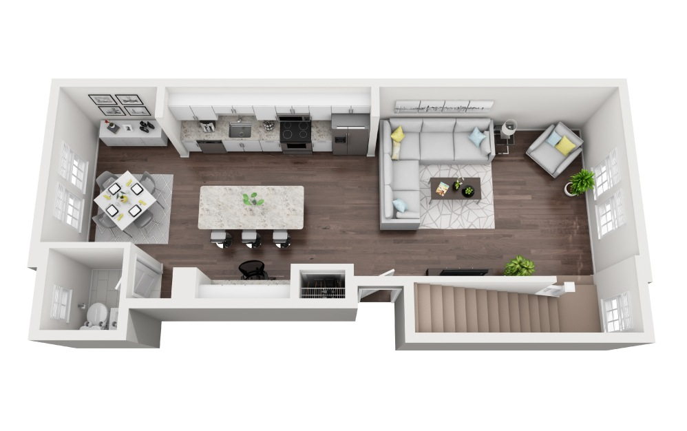 Longboat - 2 bedroom floorplan layout with 2.5 baths and 1422 square feet. (Floor 1)